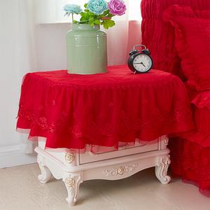 梦幻红色床头柜罩