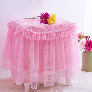 开心粉色床头柜罩