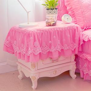 梦幻粉色床头柜罩