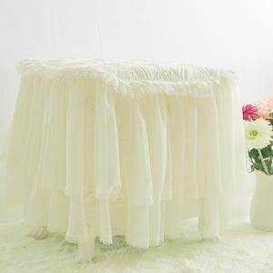开心米色床头柜罩