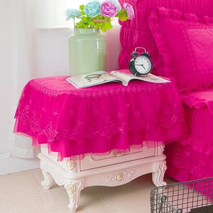 梦幻玫红床头柜罩
