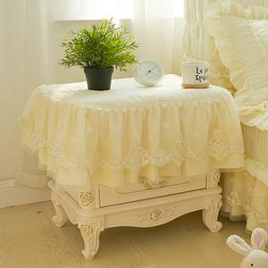 梦幻米色床头柜罩