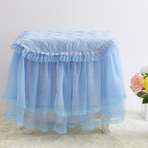 开心蓝色床头柜罩