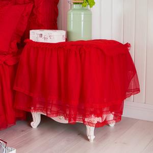 开心红色床头柜罩