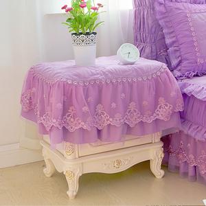 梦幻紫色床头柜罩