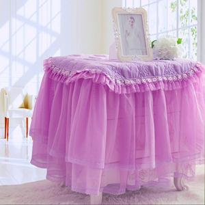 开心紫色床头柜罩